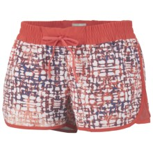 Columbia Sportswear Viva Bonita Boardshorts - UPF 50 (For Women) in Red Coral Jakarta/Grille Print - Closeouts