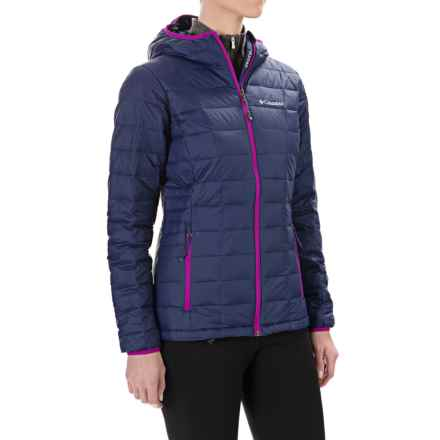 Columbia Sportswear Voodoo Falls 590 TurboDown® OmniHeat® Hooded Jacket - 550 Fill Power (For Women) in Nightshade/Bright Plum - Closeouts