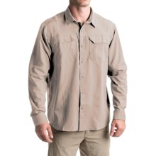 Columbia Sportswear Voyager Omni-Wick® Shirt - Omni-Shade®, Long Sleeve (For Men) in Fossil - Closeouts