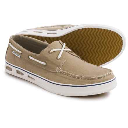 Columbia Sportswear Vulc N Vent Boat Canvas Water Shoes (For Men) in Silver Sage/Natural - Closeouts