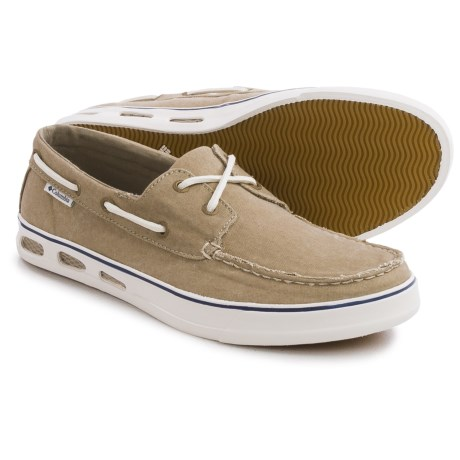 Columbia Sportswear Vulc N Vent Boat Canvas Water Shoes (For Men) in Silver Sage/Natural