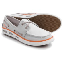 Columbia Sportswear Vulc N Vent Boat Mesh Water Shoes - Canvas (For Women) in Cool Grey/Jupiter - Closeouts