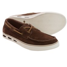 Columbia Sportswear Vulc N Vent Boat Suede Water Shoes (For Men) in Tobacco/Sea Salt - Closeouts