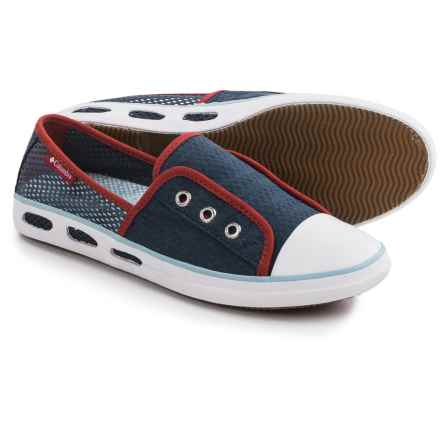 Columbia Sportswear Vulc N Vent Bombie Shoes - Slip-Ons (For Women) in Whale/Sky Blue - Closeouts