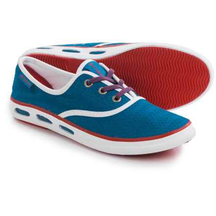Columbia Sportswear Vulc N Vent Lace Canvas II Shoes (For Women) in Blue Magic/Bright Red - Closeouts