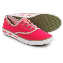 Columbia Sportswear Vulc N Vent Lace Canvas II Shoes (For Women) in Laser Red/Cool Moss - Closeouts