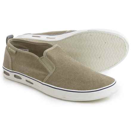 Columbia Sportswear Vulc N Vent Shoes - Slip-Ons (For Men) in Silver Sage/Sea Salt - Closeouts