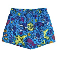 Columbia Sportswear Wake N Wave Boardshorts - UPF 30 (For Toddler Boys) in Compass Blue Creature Print - Closeouts