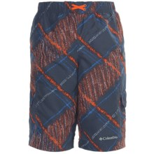 Columbia Sportswear Wake N Wave Boardshorts - UPF 30 (For Youth Boys) in Nocturnal Chalk Print - Closeouts
