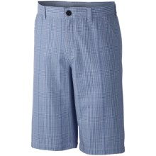 Columbia Sportswear Washed Out II Novelty Shorts (For Men) in Dark Mirage/Gingham - Closeouts