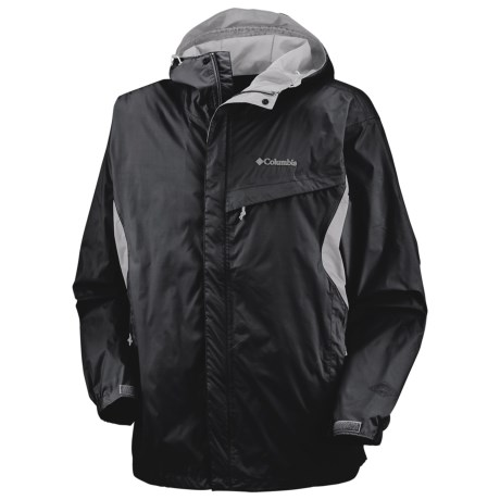 Columbia Sportswear Watertight Omni-Tech® Jacket - Waterproof (For Men) in Black/Charcoal