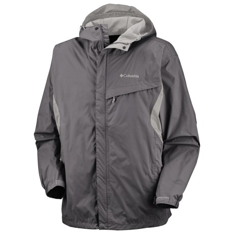 Columbia Sportswear Watertight Omni-Tech® Jacket - Waterproof (For Men) in Charcoal