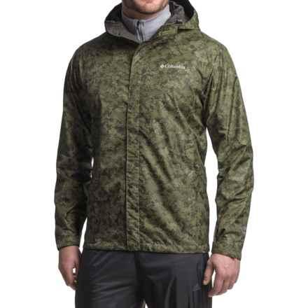 Columbia Sportswear Watertight Printed Omni Tech Jacket Waterproof Men Commando Digital Camo 40 Piste Beast