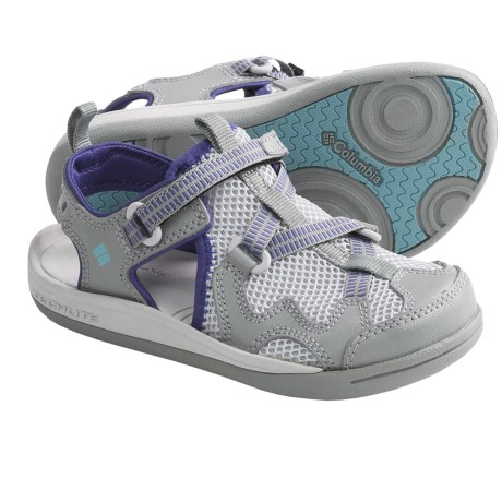 Columbia Sportswear Watu 3 Sport Sandals (For Kids) in Light Grey/Aqua