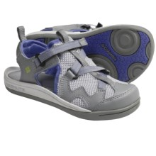 Columbia Sportswear Watu 3 Sport Sandals (For Kids) in Light Grey/Chartreuse - Closeouts