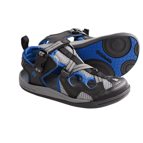 Columbia Sportswear Watu 3 Sport Sandals (For Youth) in Black/Nautical Blue