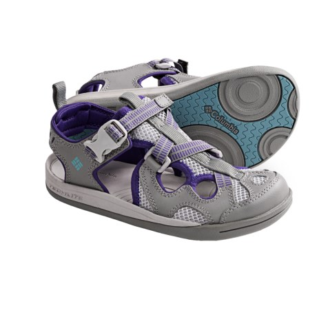 Columbia Sportswear Watu 3 Sport Sandals (For Youth) in Light Grey/Aqua