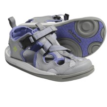 Columbia Sportswear Watu 3 Sport Sandals (For Youth) in Light Grey/Chartreuse - Closeouts