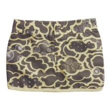 Columbia Sportswear Wavebreaker Board Skirt - UPF 30 (For Girls) in Shale Lemon/Mist Print - Closeouts
