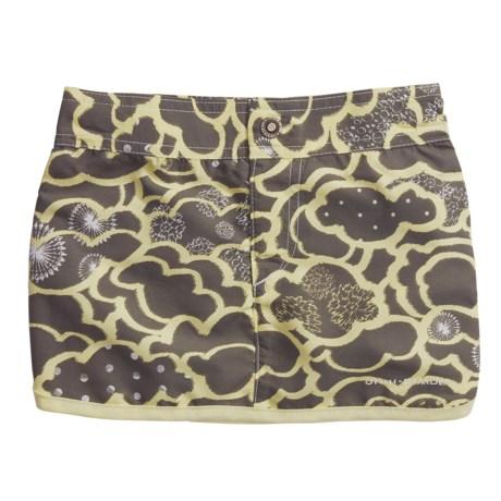 Columbia Sportswear Wavebreaker Board Skirt - UPF 30 (For Girls) in Shale Lemon/Mist Print