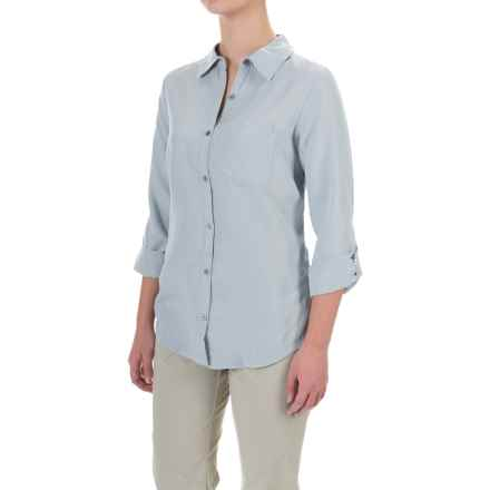 Columbia Sportswear Wayfarer TENCEL® Shirt - Button Front, Long Sleeve (For Women) in Light Indigo - Closeouts