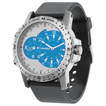 Columbia Sportswear Waypoint Sports Watch in Silver/Compass Blue/Black