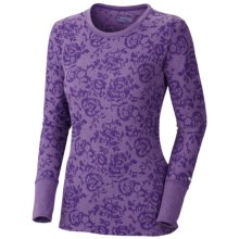 Columbia Sportswear Weekday Waffle Burnout Shirt - Crew Neck, Long Sleeve (For Women) in Hyper Purple/Floral - Closeouts