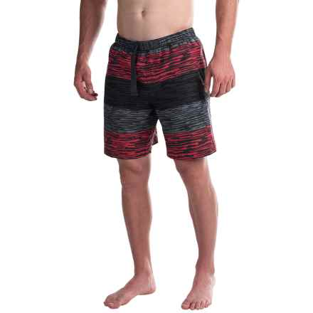 Columbia Sportswear Whidbey Water Shorts - UPF 50 (For Men) in Sunset Red Stripe Print - Closeouts