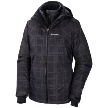Columbia Sportswear Whirlibird Interchange Jacket - 3-in-1 (For Women) in Black Plaid Print - Closeouts