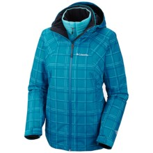 Columbia Sportswear Whirlibird Interchange Jacket - 3-in-1 (For Women) in Dark Compass Plaid Print - Closeouts