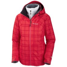 Columbia Sportswear Whirlibird Interchange Jacket - 3-in-1 (For Women) in Red Hibiscus Plaid Print - Closeouts