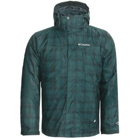 Columbia Sportswear Whirlibird Interchange Omni-Heat® Jacket - Insulated, 3-in-1 (For Big Men) in Blue Forest Plaid