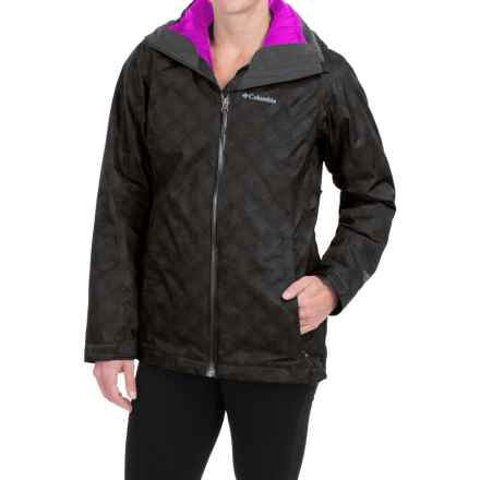 Columbia Sportswear Whirlibird Interchange Omni-Heat® Omni-Tech® Jacket - 3-in-1 (For Women) in Black Plaid/Bright Plum - Closeouts