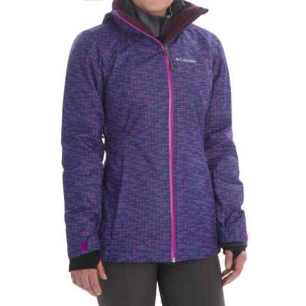 Columbia Sportswear Whirlibird Interchange Omni-Heat® Omni-Tech® Jacket - 3-in-1 (For Women) in Bright Plum Print/Black - Closeouts
