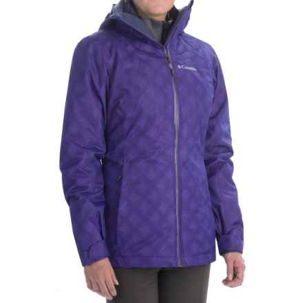 Columbia Sportswear Whirlibird Interchange Omni-Heat® Omni-Tech® Jacket - 3-in-1 (For Women) in Hyper Purple Plaid/Inkling - Closeouts