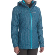 Columbia Sportswear Whirlibird Interchange Omni-Heat® Omni-Tech® Jacket - 3-in-1 (For Women) in Nocturnal Print/Atoll - Closeouts