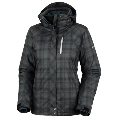 Columbia Sportswear Whirlibird Interchange Omni-Heat®-Omni-Tech® Ski Jacket - 3-in-1 (For Women) in Black Printed Plaid