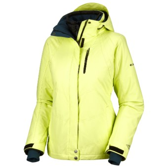 Columbia Sportswear Whirlibird Interchange Omni-Heat®-Omni-Tech® Ski Jacket - 3-in-1 (For Women) in Neon Light