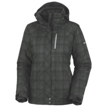 Columbia Sportswear Whirlibird Interchange Omni-Heat® Ski Jacket-Insulated, 3-in-1 (For Plus Size Women) in Black Printed Plaid - Closeouts