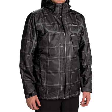 Columbia Sportswear Whirlibird Omni-Heat® Interchange Jacket - 3-in-1, Waterproof, Insulated (For Men) in Black Print - Closeouts