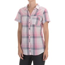 Columbia Sportswear Wild Haven Shirt - Button Front, Short Sleeve (For Women) in Haute Pink Large Plaid - Closeouts