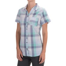 Columbia Sportswear Wild Haven Shirt - Button Front, Short Sleeve (For Women) in Pale Purple Large Plaid - Closeouts