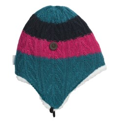 Columbia Sportswear Wilderness Run Peruvian Beanie Hat - Wool (For Men and Women) in Light Turquoise/Bright Rose