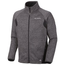 Columbia Sportswear Wind D-Ny Omni-Heat® Fleece Jacket (For Men) in Black Heather - Closeouts