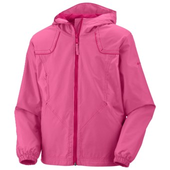 Columbia Sportswear Wind Racer Jacket (For Girls) in Pink Taffy