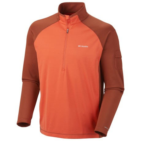 Columbia Sportswear Windefend Shirt - Zip Neck, Long Sleeve (For Men) in Bronco