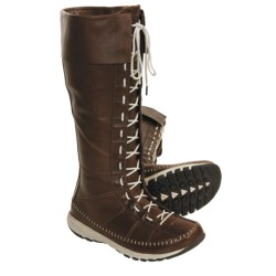 Columbia Sportswear Winter Transit Boots - Waterproof, Leather, Tall (For Women) in Tobacco