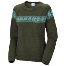Columbia Sportswear Withrow II Sweater - Angora, Long Sleeve, Crew Neck (For Women) in Surplus Green - Closeouts