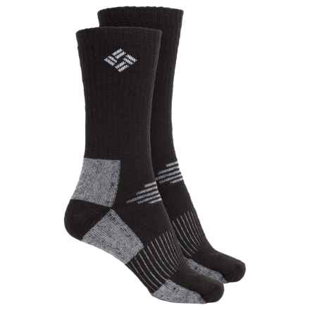 Columbia Sportswear Wool Hiking Socks - 2-Pack, Crew (For Women) in Black - Closeouts