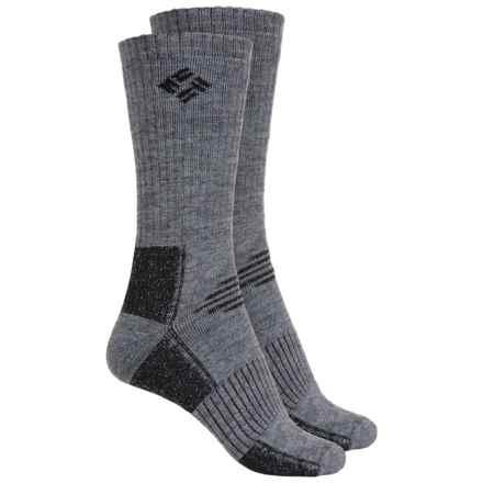 Columbia Sportswear Wool Hiking Socks - 2-Pack, Crew (For Women) in Grey - Closeouts